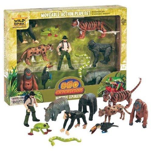 Wild Republic 60497 Plastic Figures Rainforest Expedition