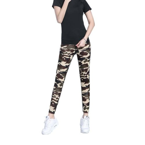 Stylish Printing Design Quick-dry Pants Running Fitness Trousers Yoga Pants, #12