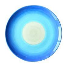 2 Pcs Blue Gradient Ceramic Hand-painted Pastry Tray Dessert Plate
