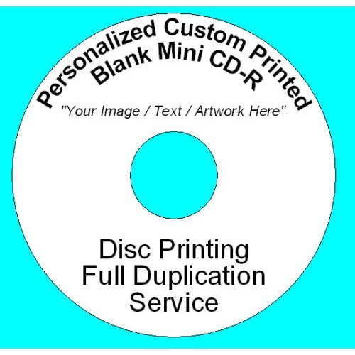 Personalized Custom Printed 8CM Mini CD-R Disc (210MB 24min 24x) Full Colour
