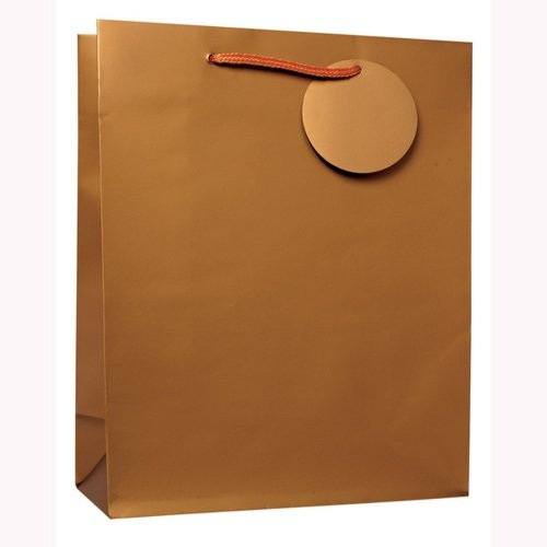 Simon Elvin Large Gold Gift Plastic Bags (Pack Of 6)