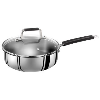Jamie Oliver by Tefal Everyday 25cm Sauté Pan & Lid - Non-Stick, Stainless Steel