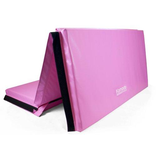 Large 4-Fold 10ft Gym Mat - Pink