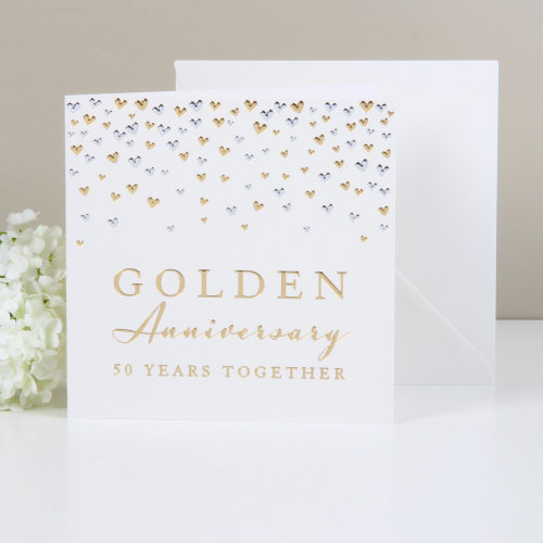 Amore Deluxe Card - Golden Anniversary
