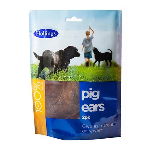 Hollings  Pig Ears For Dogs 2 pack x 10