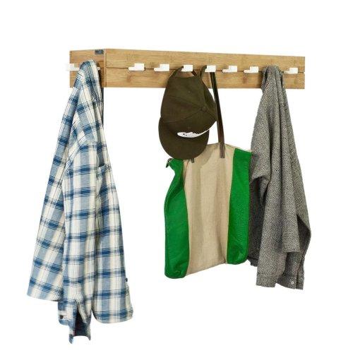 SoBuy® FHK07-N, Bamboo Wall Coat Rack, Corner Wall Hook Hanger
