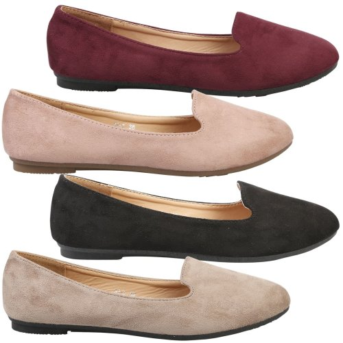 Antonia Womens Flat Slip On Cushioned Sole Loafers