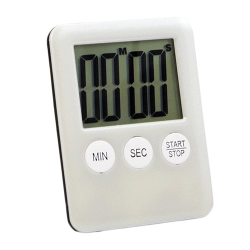 Functional Electronic Digital Timer Kitchen Timer, White