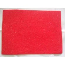 "Kunin Pack of 2 Eco-Felt Glitter Felt Sheets - 9"" x 12"" - Red"