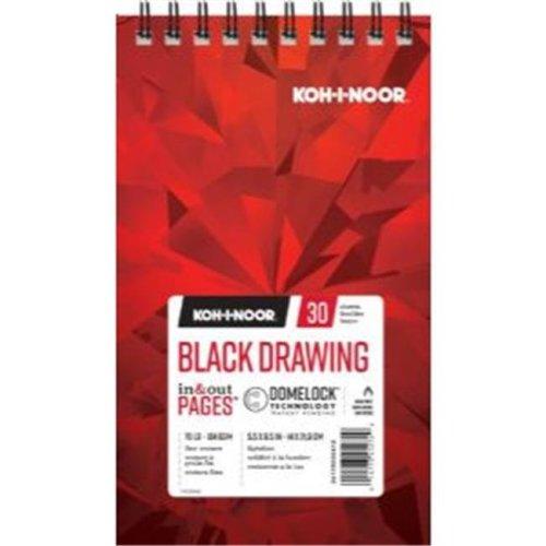 Koh - I - Noor K26170220412 5.5 x 8.5 in. Black Drawing Paper