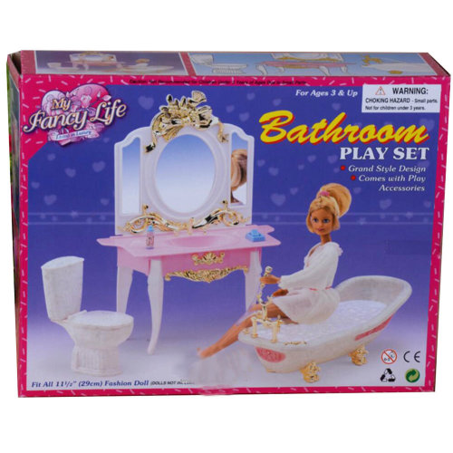 Luxurious 11.5'' Doll Living Room Furniture Set- Bathroom
