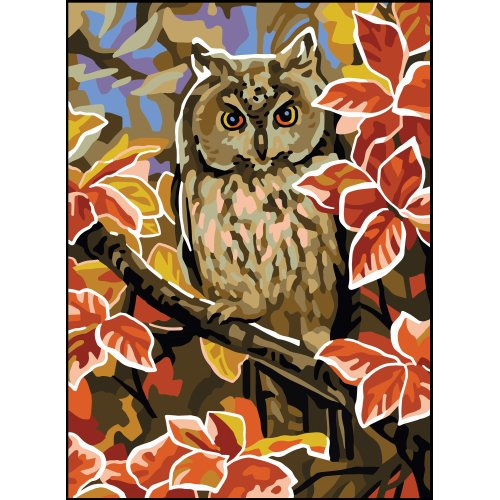 Collection D'art Needlepoint Printed Tapestry Canvas 22X30cm-Owl