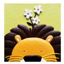 [Lion&Flower] 3D Paint-By-Number Kits DIY Painting Crafts for Kids Over 5Y