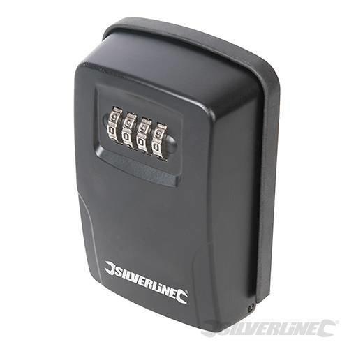 Silverline Key Safe Wall-mounted 121 x 83 x 40mm - Wallmounted 309218 -  key safe silverline x wallmounted 309218 combination lock 121 83 40mm box