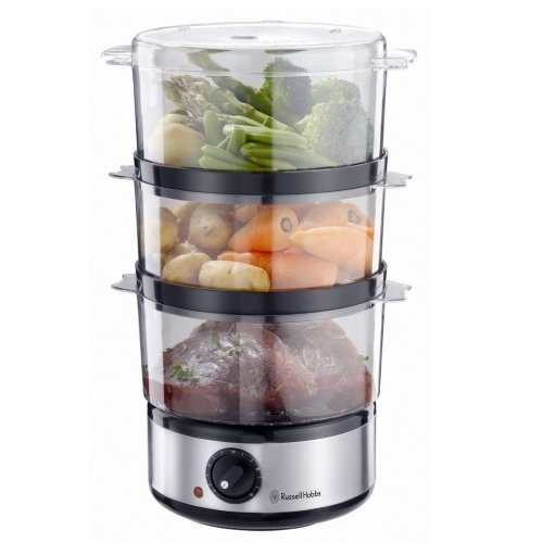 Russell Hobbs 14453 Stainless Steel 3 Tier Compact Food Collection Steamer
