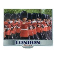 London Queens Marching Guards Fridge Magnet Foil Stamped Royal Elizabeth Guardsman Souvenir Gift