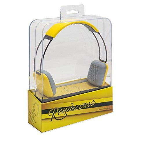 Oblanc SY AUD23062 Rendezvous Wireless Bluetooth Headphone with Built In Micrphone Yellow